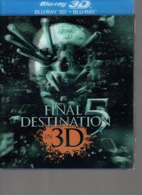 *老闆跑路*絕命終結站5  BD二手片3D版兩片裝,實品如圖,,限制級:未滿18歲請勿購買,下標即賣,請看關於我