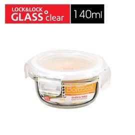 🌟現貨🌟LLG811 樂扣樂扣 LOCK 耐熱玻璃保鮮盒圓形140ML/白 玻璃保鮮盒 樂扣玻璃 樂扣耐熱玻璃保鮮盒