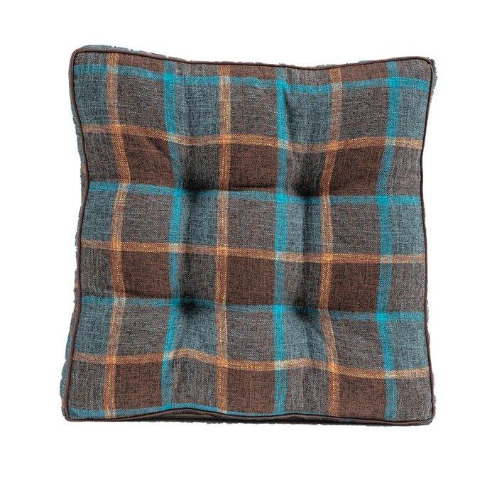 SX千貨鋪-北歐格子坐墊辦公室久坐四季通用布藝座椅墊坐墊地上榻榻米墊