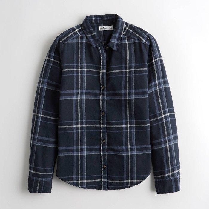 【HOLLISTER Co.】【HCO】HC女款長袖襯衫紫線黑藍大格 F07200501-20