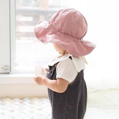 嬰兒帽子秋季薄款女童寶寶遮陽帽涼帽漁夫帽男童太陽帽兒童防曬帽尾牙