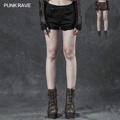 beauty女孩 小破家 PUNK RAVE pr朋克狀態女裝 蒸汽朋克短褲  Steampunk