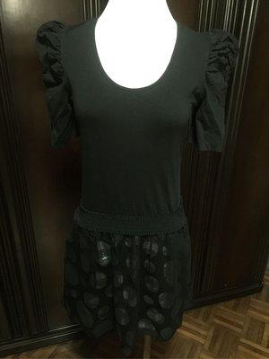 MOMA黑色公主袖洋裝/長版上衣