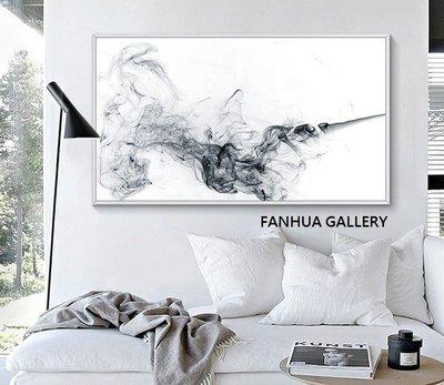 C - R - A - Z - Y - T - O - W - N 黑白抽象橫幅大幅掛畫 室內設計畫 客廳沙發牆裝飾壁畫