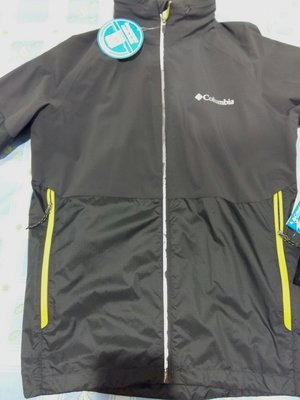Columbia get winded jacket omni-wick evap 防潑水 /風衣外套 男 灰色螢光 3m反光