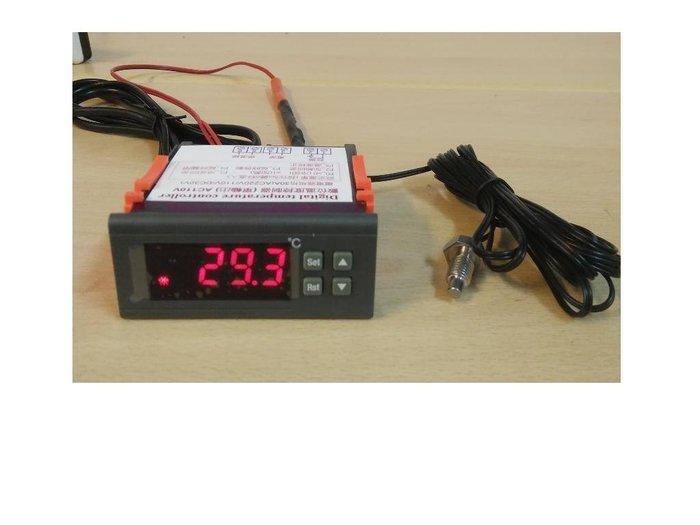 AC110V  30A輸出繼電器 數位式溫度控制器 冷熱 輸出(含M8螺牙感溫棒)