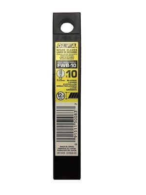 景鴻五金 公司貨 日本 OLFA 折斷式刀片 FWB-10 中型美工刀片替刃 12.5mm 刀片 含稅價