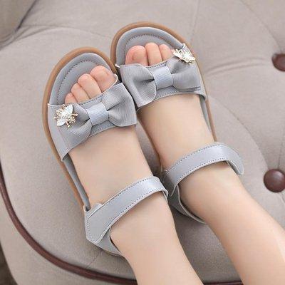 ☜男神閣☞童鞋 新款兒童鞋蝴蝶結涼鞋正韓公主中大童鞋女童涼鞋軟底防滑童鞋