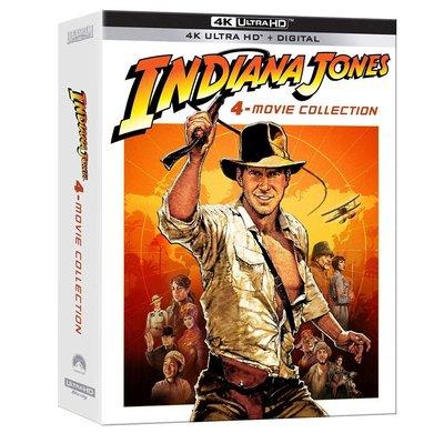 毛毛小舖--藍光BD 印第安納瓊斯 1-4 4K UHD digipak限定版(中文字幕) Indiana Jones