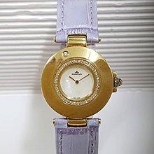 大眾當舖 流當品 商品編號062 積架女用時英錶、18k金鑲鑽、錶圈可旋轉、錶徑3mm.