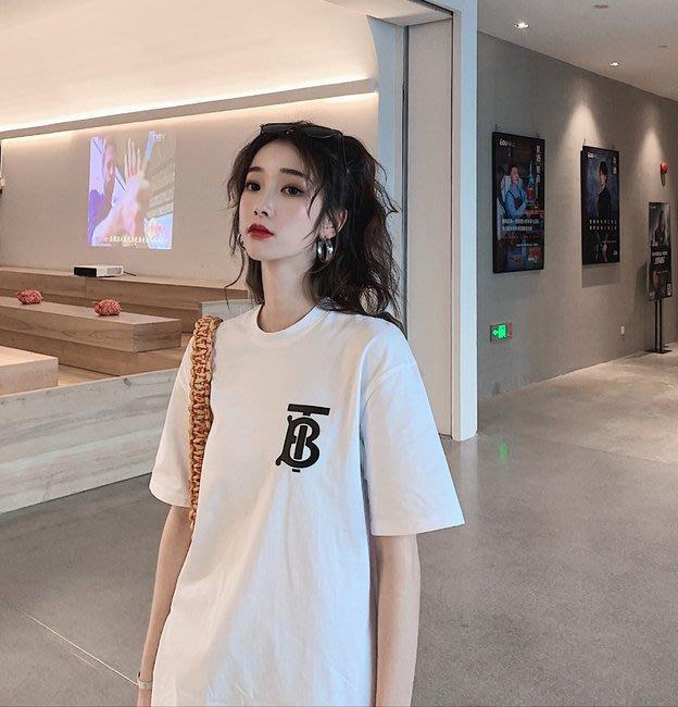 FINDSENSE G6 正韓女裝上衣 白色黑色簡約寬鬆情侶裝長T素T棉T圓領寬鬆T短袖女T恤網紅商品女t-shirt