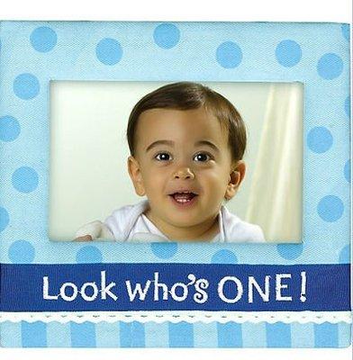 美國Amscan Boy 1st Birthday Fabric Frame第一生日布料相框(1色) ☆現貨☆