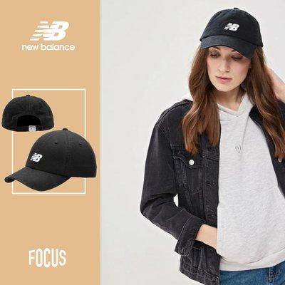 【FOCUS】全新 NEW BALANCE CURVED BRIM CAP 黑色 可調式 老帽 LAH91014BK