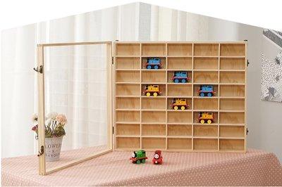 TOMICA 多美小汽車 40格有蓋 松木原木壓克力展示櫃收納櫃防塵櫃 多美小車木製收藏櫃 (預購)