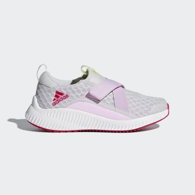 》P.S 》ADIDAS  FortaRun X Cool Shoes 中童 魔鬼氈 休閒 運動鞋 白/粉 CP9432