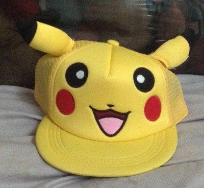 全新寶可夢神奇寶貝 卡車帽 嘻哈帽 皮卡丘  ㄎ
