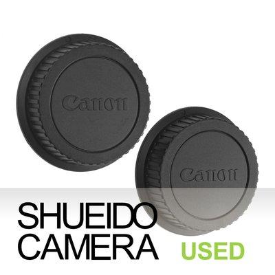 集英堂写真機【全國免運】美品 CANON 原廠鏡頭後蓋 保護蓋 2枚組合 EF EF-S 鏡頭適用 #68 19500