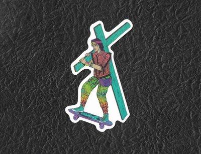 PVC防水貼紙 十字架 潮流 爆炸貼 機車 行李箱 安全帽 滑板 嘻哈 旅行箱 電腦 滑雪板 1473 新北市