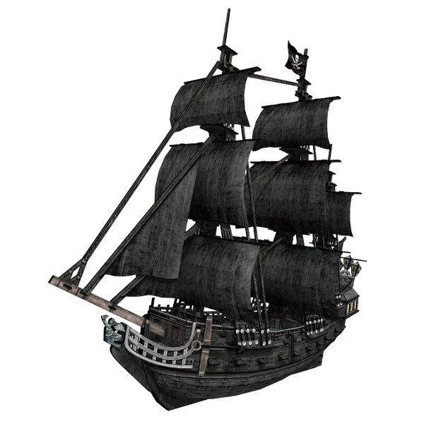 佳廷家庭 親子DIY紙模型3D立體拼圖專賣店 船舶軍艦遊艇 安妮女王復仇號海盜船至尊版 樂立方T4018