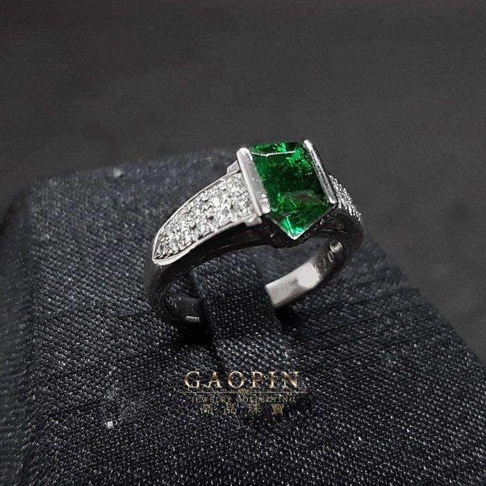 【高品珠寶】73分哥倫比亞極微油祖母綠戒指 母親節禮物 PT900 #804
