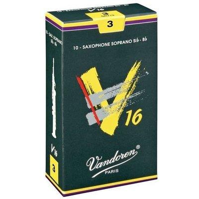 §唐川音樂§【Vandoren JVANDOREN V16  Soprano Reeds 薩克斯風 高音 竹片 10片裝】(法國)