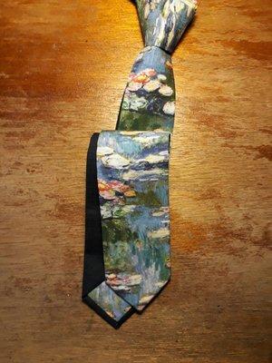 【巴特先生】印象的睡蓮手工領帶_莫內Monet_藝術_雅痞_handmade_Necktie_限量_藍