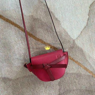 Loewe Gate Mini Bag 樹莓紅馬鞍斜挎包 15x12.5x8