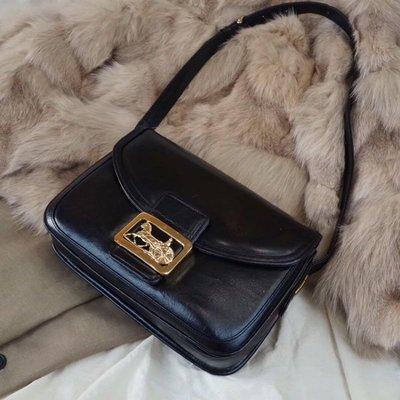 售出?日本中古二手??賽琳vintage Celine黑金馬車扣box(夢露????現貨實拍)