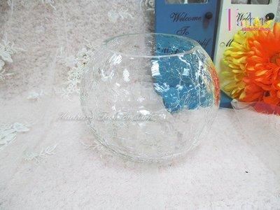 ☆[Hankaro]☆創意流行圓形裂紋玻璃花瓶(樣品出清)