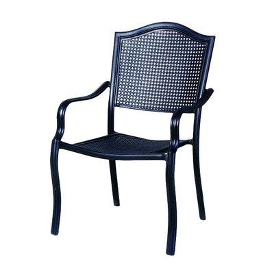 【紅豆戶外休閒傢俱】維也納鋁合金餐椅/採用鋁合金製作堅固耐用/高背扶手設計乘坐舒適/適合各式場所使用