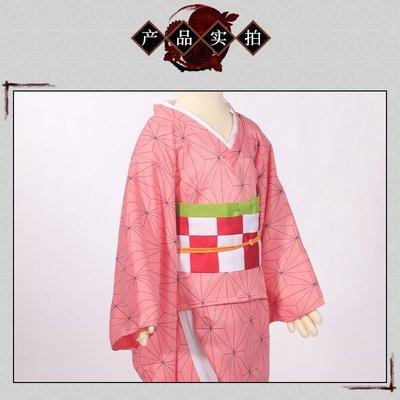 兒童款鬼滅之刃灶門禰豆子cos服動漫周邊衣服全套cosplay女彌豆子個性