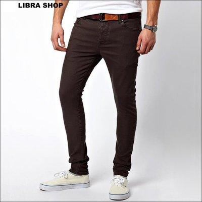 【LIBRA】英國購入:深灰色超窄版skinny彈性窄管褲牛仔褲≠Balmain Homme/overkill/zara