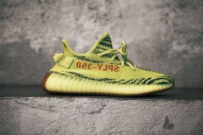 Adidas Yeezy-Boost-350-V2 Yellow B37572麥當勞螢光黃斑馬紋紅字編織襪套棕生膠底侃爺