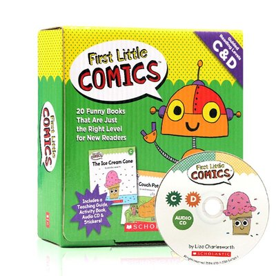 *小貝比的家*FIRST LITTLE COMICS GUIDED READING LEVELS C&D/20小書1CD