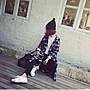 Jomi日韓 慵懶隨性 韓版復古休閒格子寬鬆長版襯衫*紅格現貨 【JM16-ZE1003】