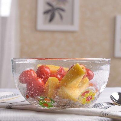 廚房用品 餐具 餐盤 碗 彩色玻璃碗透明燕麥碗酸奶碗餐具面碗湯碗大碗創意蔬菜沙拉碗大號