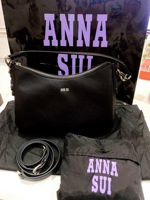 Anna Sui 全新 彎月包 內有拉鍊 發財包 手提包 側背包 可斜背