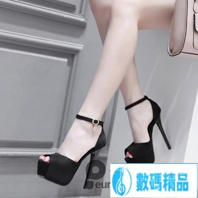 恨天高/新款14cm細跟高跟鞋夏季性感夜店模特~尾牙鉅惠【數碼精品】