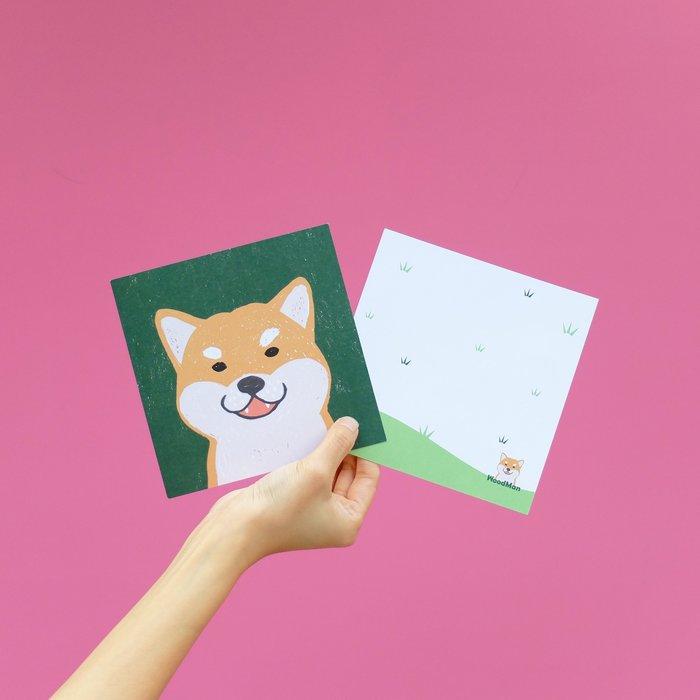 柴犬好可愛噢,有狗明信片