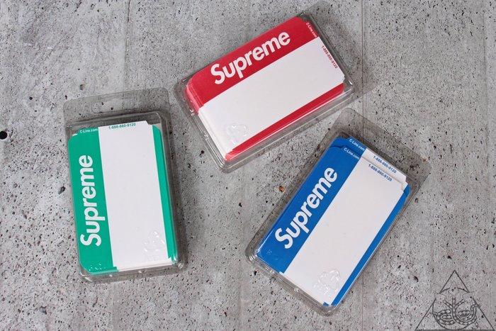【HYDRA】Supreme Name Badge Stickers 姓名 貼紙【SUP446】