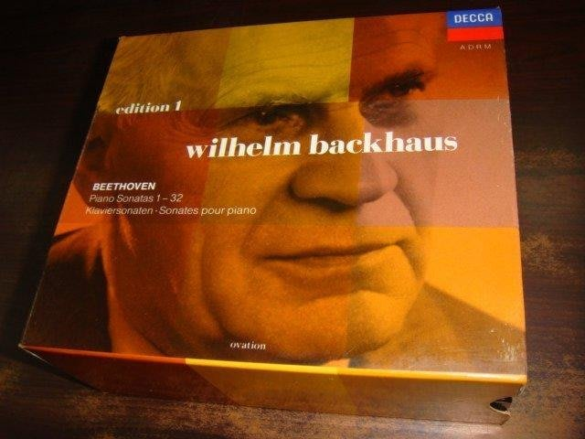 好音悅 半銀圈 Backhaus 巴克豪斯 Beethoven 貝多芬 鋼琴奏鳴曲全集 8CD DECCA 德PMDC版