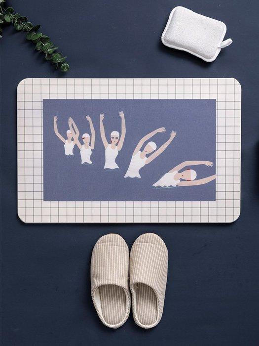 解憂zakka~ 【雙面使用】簡約趣味浴室硅藻泥吸水地墊 衛生間防滑硅藻土腳墊#地墊#地毯