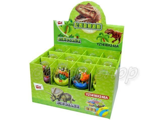 寶貝玩具屋二館☆【文具】趣味可愛恐龍蛋模型橡皮擦8入(單顆價)