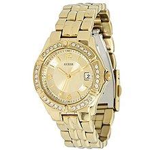 GUESS 手錶 35mm 休閒 金色 金錶 水鑽 鋼帶 女錶 U85110L1