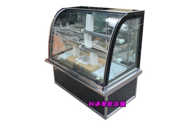 《利通餐飲設備》瑞興 4尺落地型蛋糕櫃 4尺蛋糕櫃 圓形玻璃 多彩  展示冰箱
