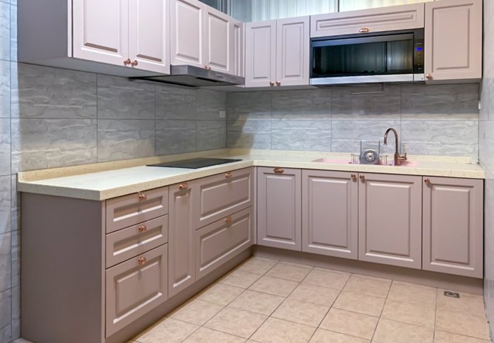 質感美式 藕粉色系 收納廚櫃 餐櫃 皆可訂製【帷圓定制】