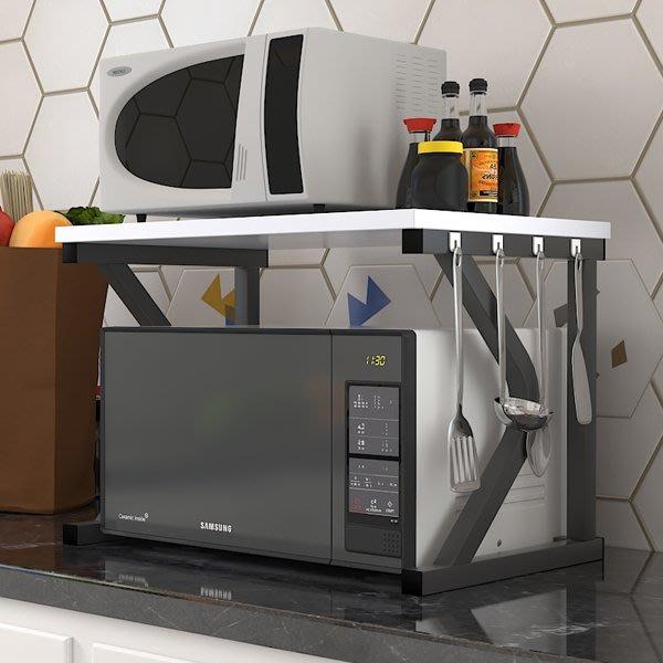 微波爐架簡約雙層置物架子2層收納架烤箱儲物簡易落地架廚房用品wy