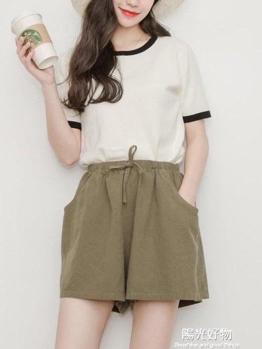 短褲女寬鬆新款夏外穿高腰運動韓版學生休閒胖mm大碼闊腿短褲