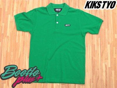 BEETLE PLUS 西門町專賣店 KIKS TYO LOGO POLO 衫 亮綠色 日本版 現貨 M