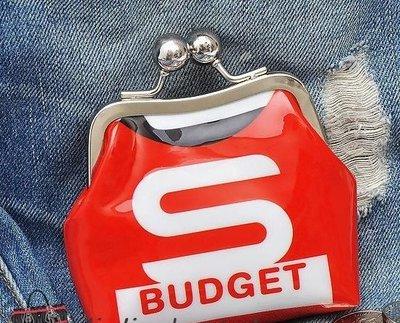 可愛BUDGET 漆皮 蛙口零錢包 硬幣包 小雜物包 官網款